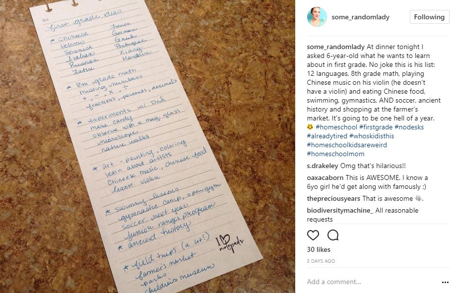 Ideas for first grade homeschool curriculum