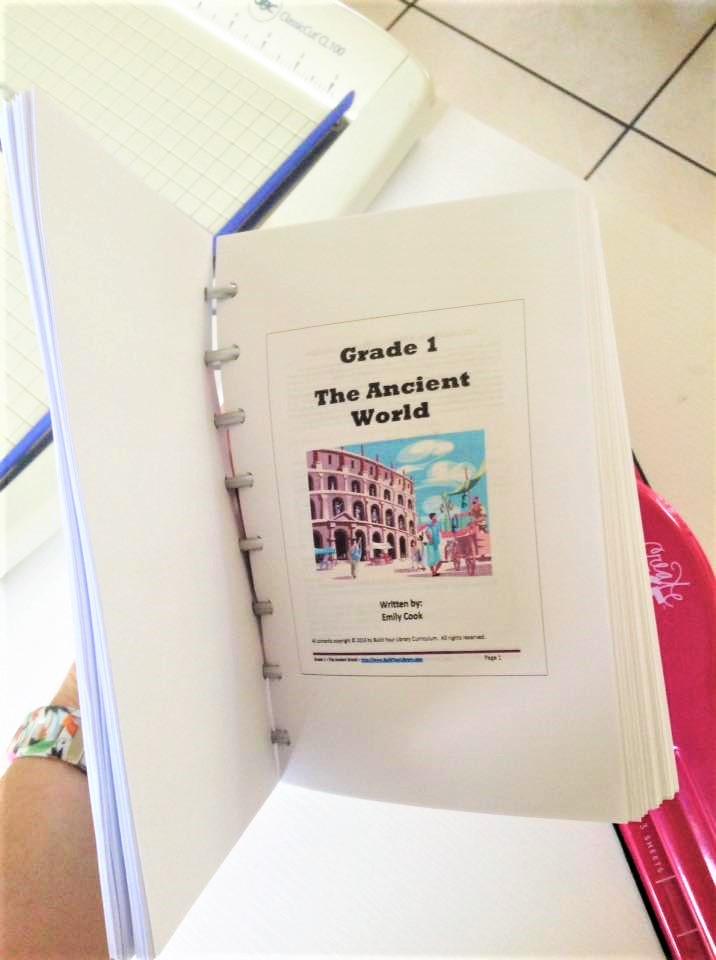 Print Curriculum Half Size, Disc Bound Booklet Printing