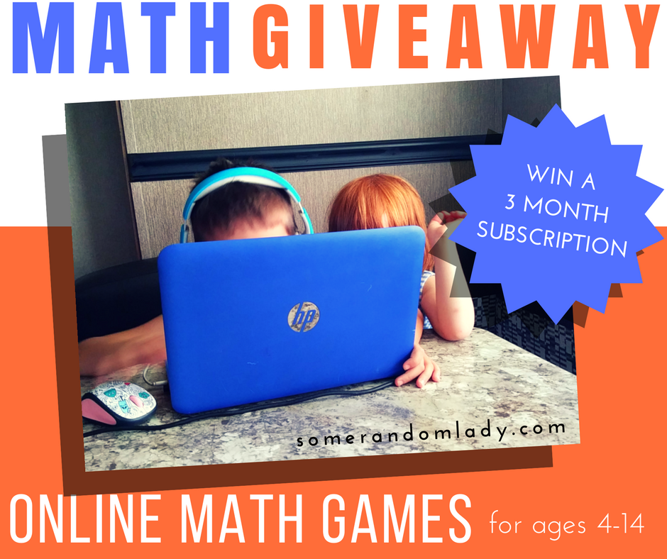 GIVEAWAY!!! Win a 3 month subscriptions for online math games for children ages 4-14!