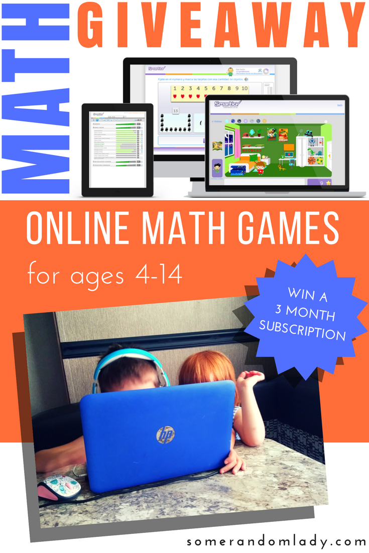 Online Math Games Giveaway with Smartick Method