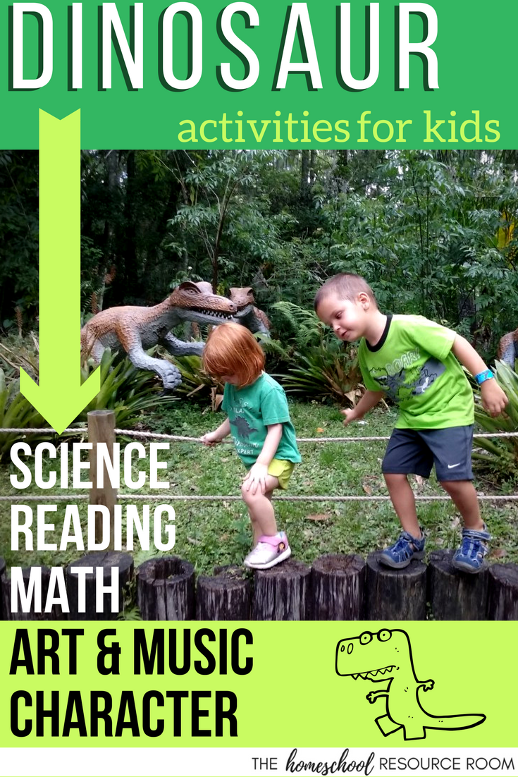 Dinosaur Activities for Kids. Full unit study for kindergarten, preschool, elementary ages.