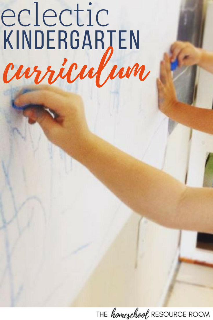 Eclectic kindergarten curriculum choices for homeschoolers. Choosing a curriculum for a hands-on, child led, curriculum supported, gentle introduction to homeschool.
