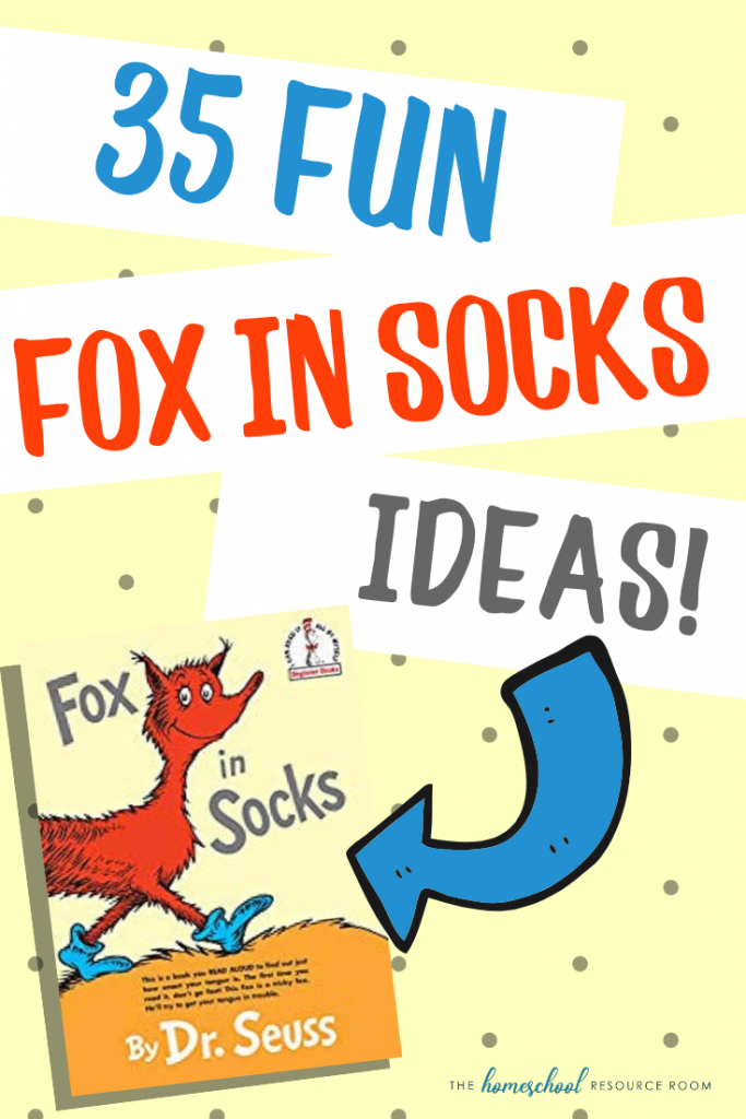 35 FUNtastic Fox in Socks Activities for elementary students! Find videos, blue goo slime, activities, worksheets, and more!