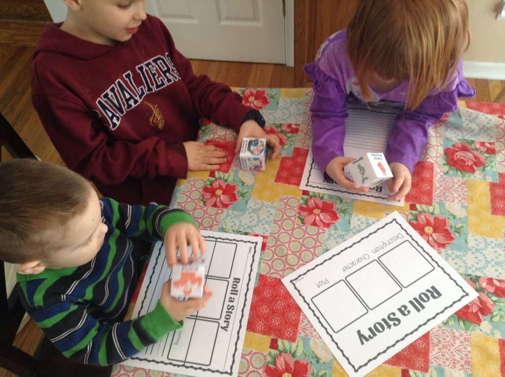 Roll A Story Earth Day Writing Activity
