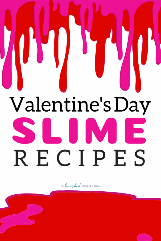 Fun with hands-on science and five fun and slippery Valentine's Day Slime Recipes! Dig into some sensory fun this February!