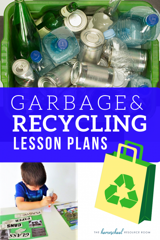 FUN garbage and recycling lesson plans for preschool, kindergarten, and elementary ages.  Garbage and recycling books, activities, and videos!