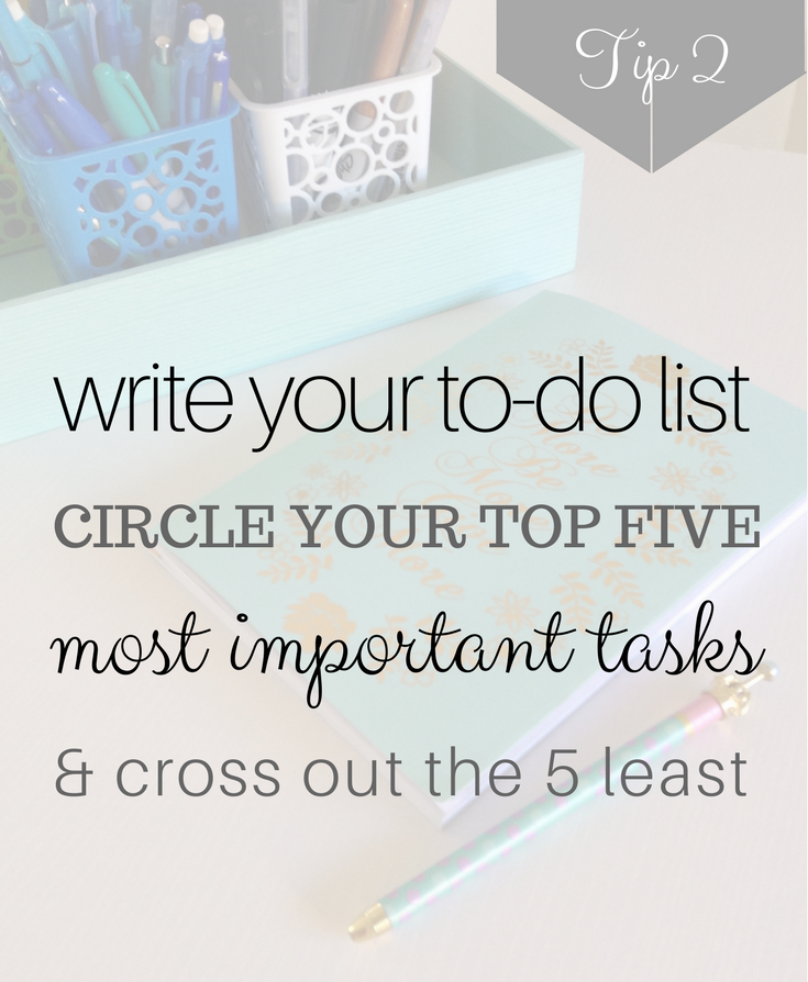 Home organization ideas - start with writing everything down. Get organized in 5 minutes or less.