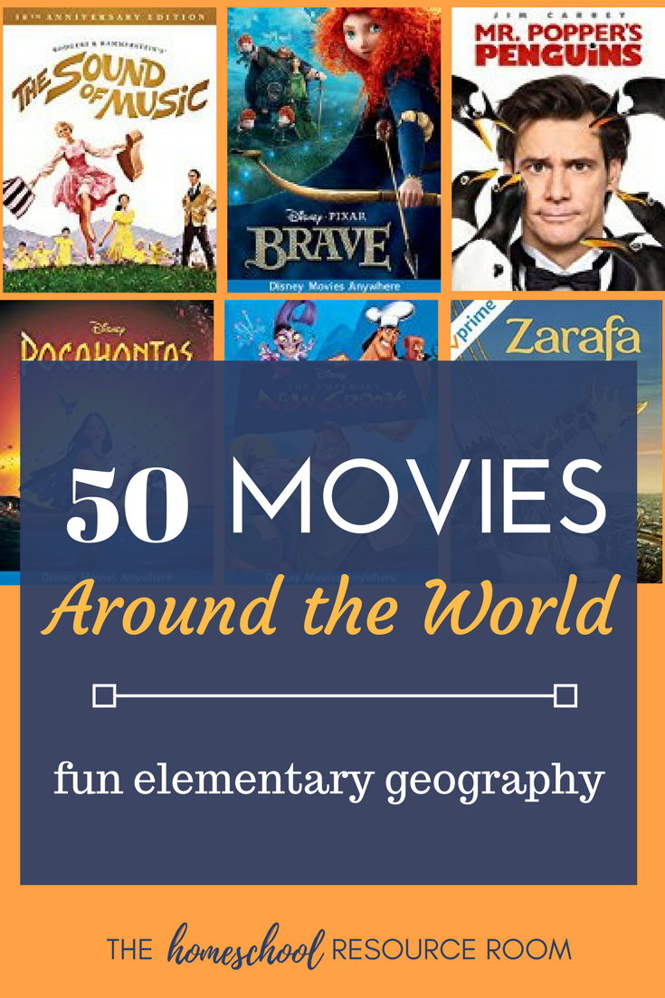 50 Around the World Movies for Kids! Elementary geography resources and supplements for continent study