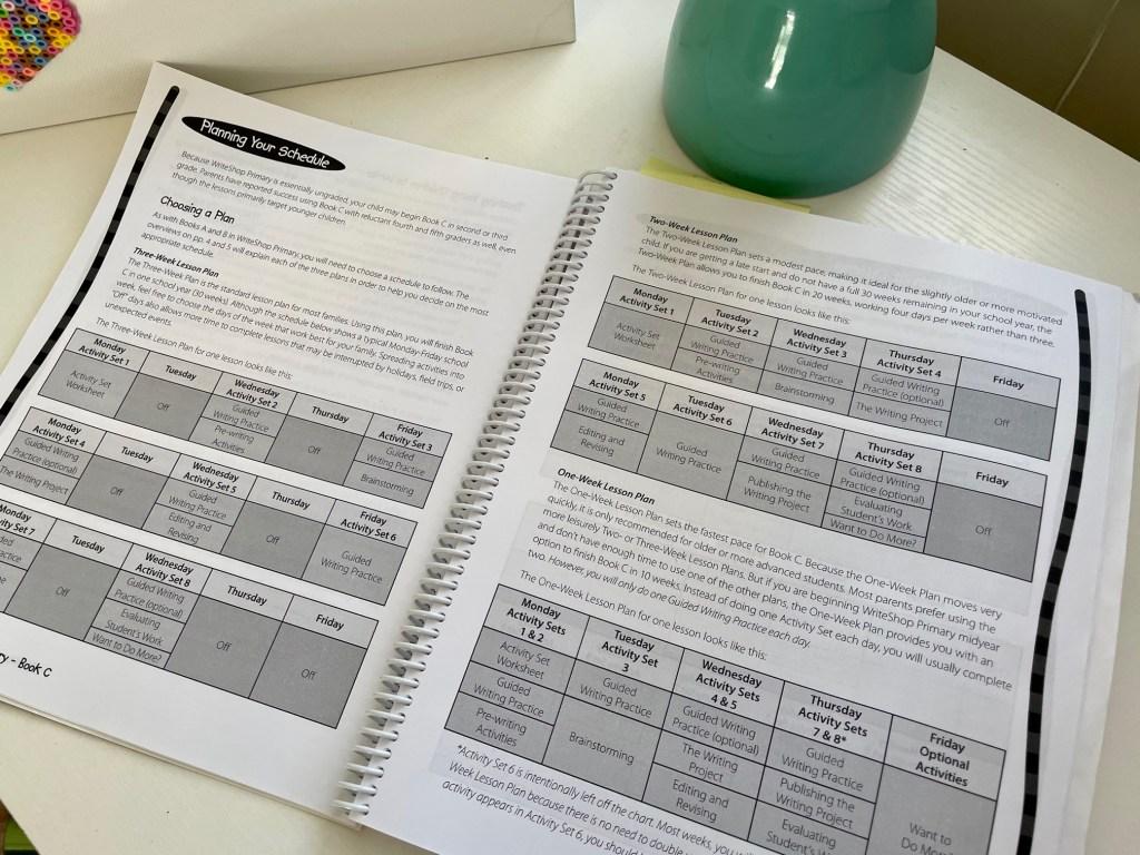 First Grade Curriculum WriteShop