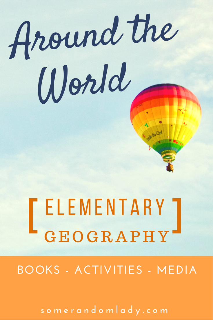Elementary geography and continent studies pin, books, activities, and media resources