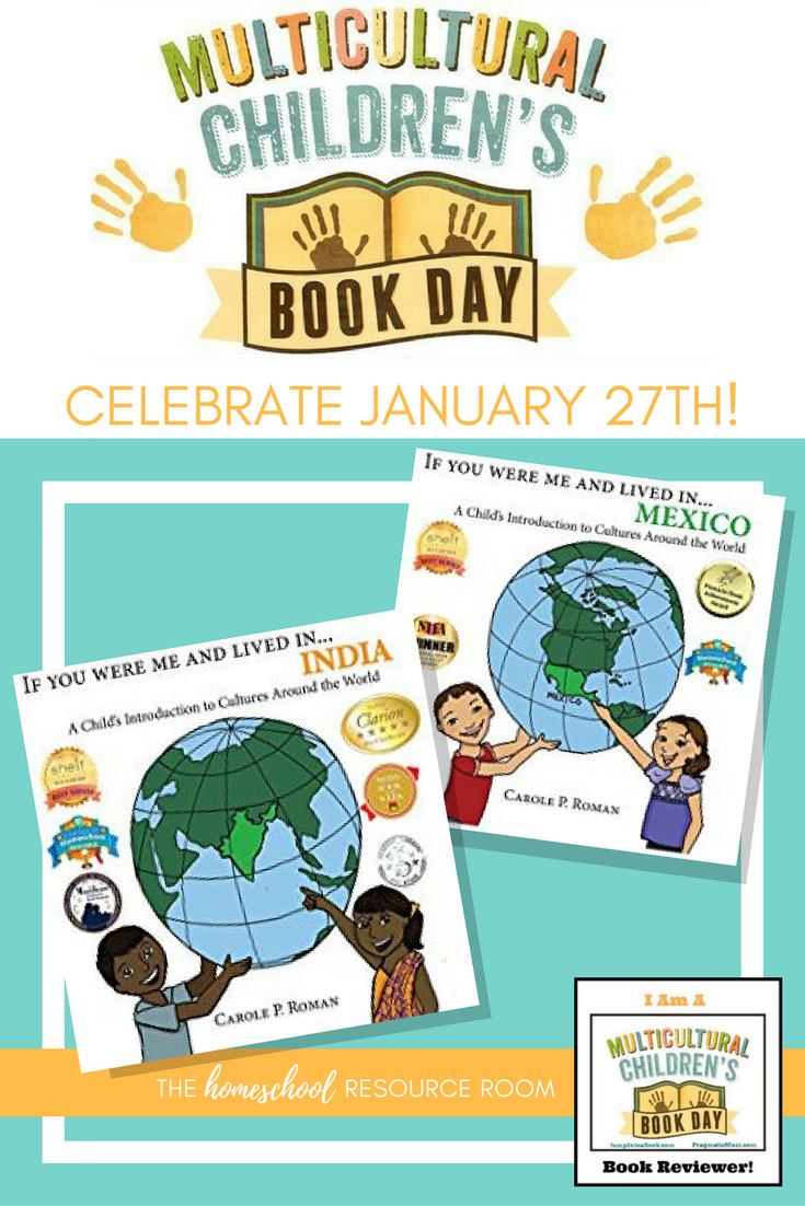 """Celebrate Multicultural Children's Book Day January 27th! Introducing award winning author, Carole P. Roman and her series """"If You Were Me and Lived in..."""" highlighting cultures and countries around the world! Appropriate for preschool, kindergarten."""