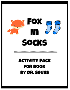 Fox in Socks Activities - Free Printable Pack
