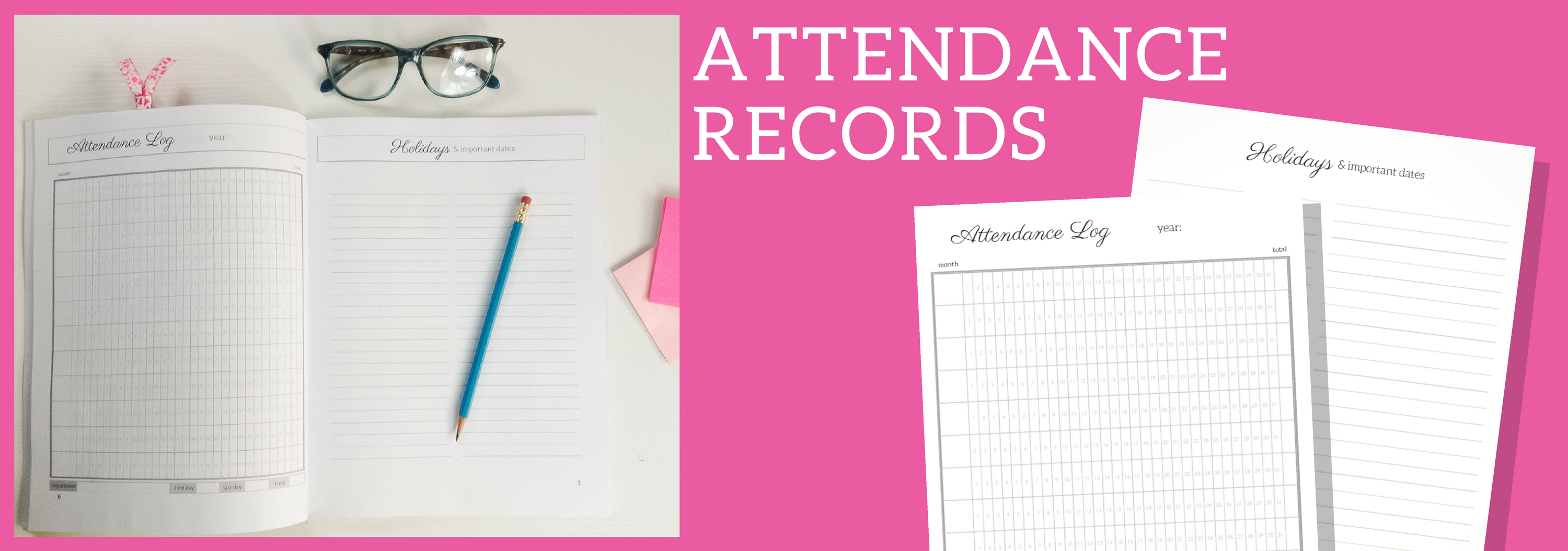 Homeschool Attendance Record Free Printable (1)