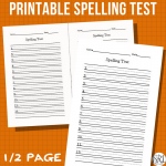 Printable Spelling Test