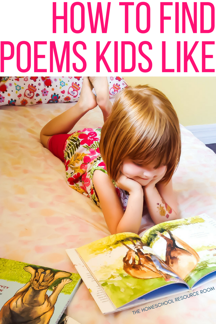 How to find poems kids like. Plus activities and suggested reading for elementary aged students.