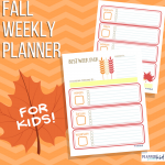 Fall Weekly Planner for Kids