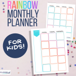 Rainbow Calendar for Kids