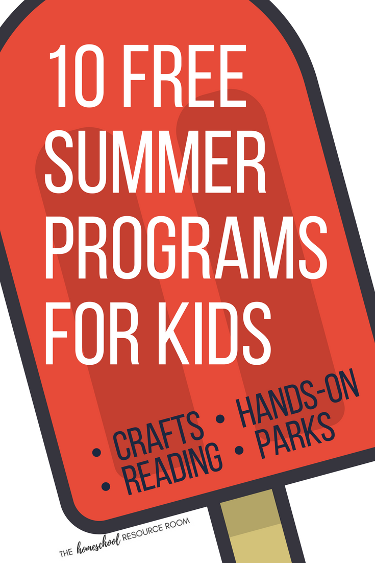 10 Free Summer Programs for kids available nationally - reading programs, national and state parks, in-store crafts, hands on maker activities, and more. Appropriate for elementary aged children! Get out and have fun this summer!!!
