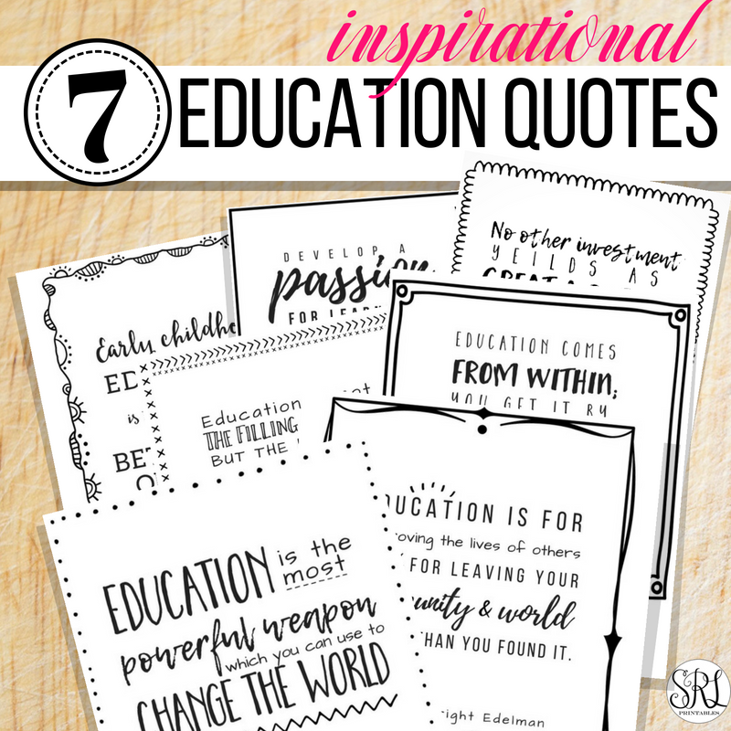 Free Printable Education Quotes