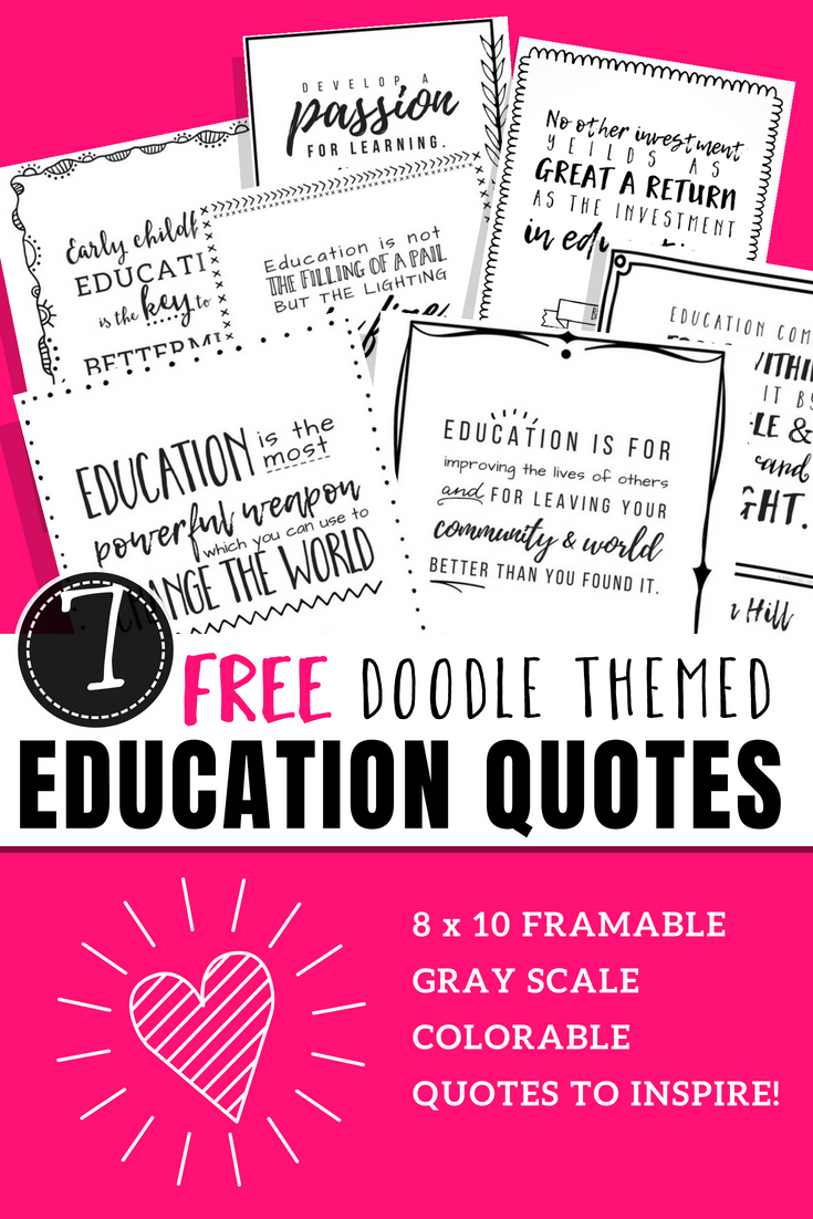 Printable education quotes