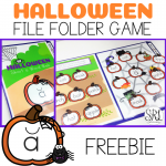 Free file folder game for Halloween, K-2