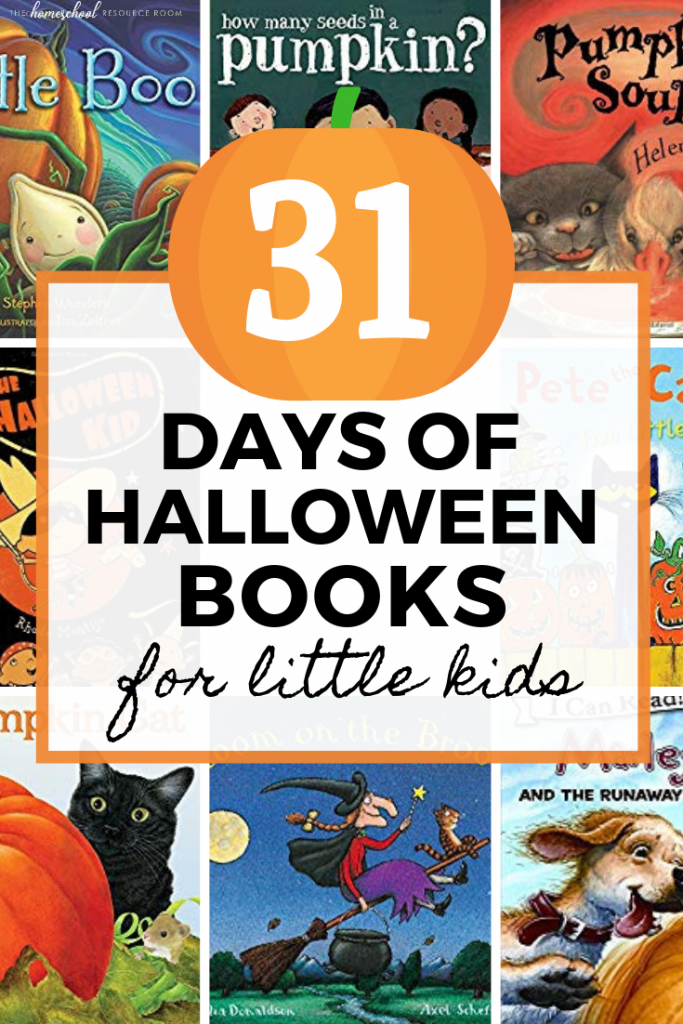 31 days of friendly Halloween books for little kids! Fun and NOT spooky picture books for preschool and kindergarten read alouds. Perfect for sensitive little ones! #halloween #halloweenbooks #readaloud