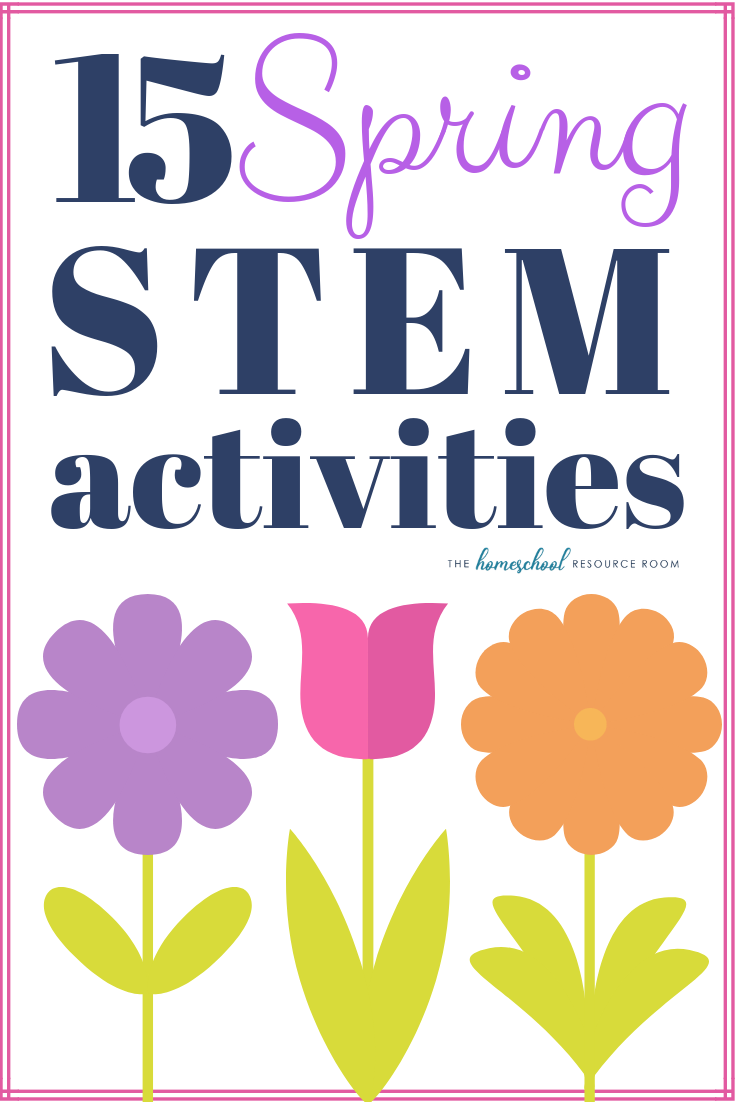 15 Spring STEM activities to encourage hands-on learning in science, technology, engineering, and mathematics!