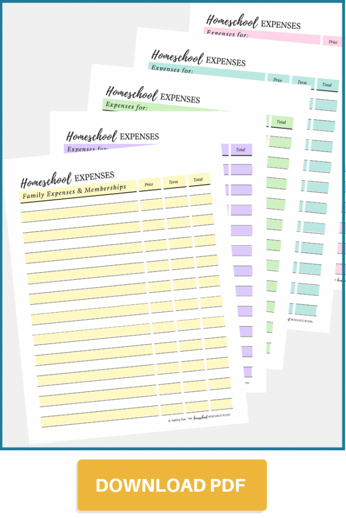 Homeschool Expense Tracker