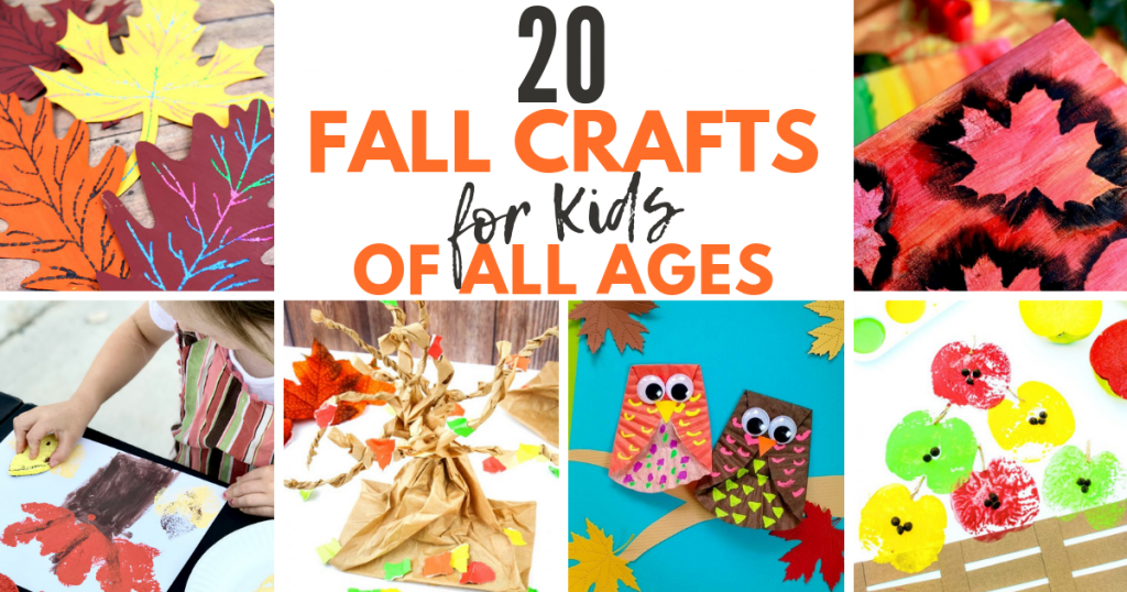 20 fall crafts for kids! Got a crafty kid? Your little ones will love working on these fun fall projects! #fall #crafts