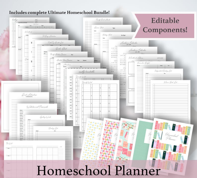 Printable Homeschool planners (5)
