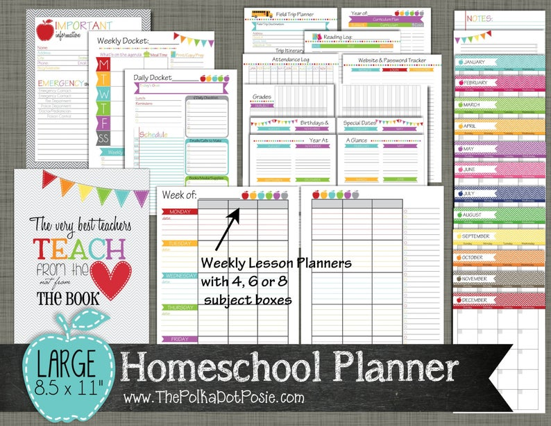 Printable Homeschool planners (7)