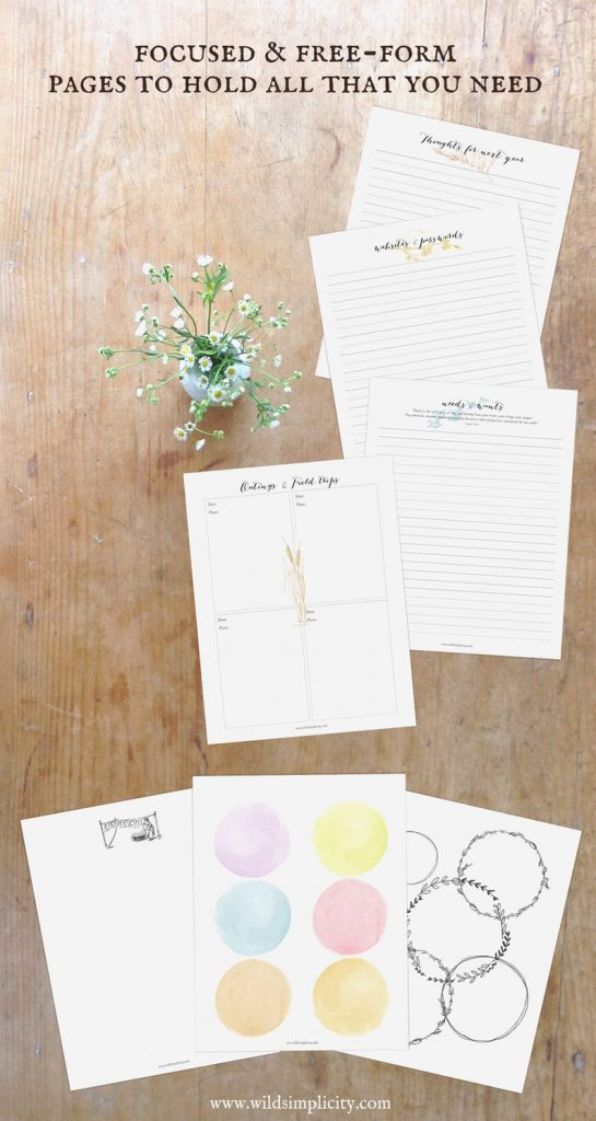 Printable Homeschool planners (8)