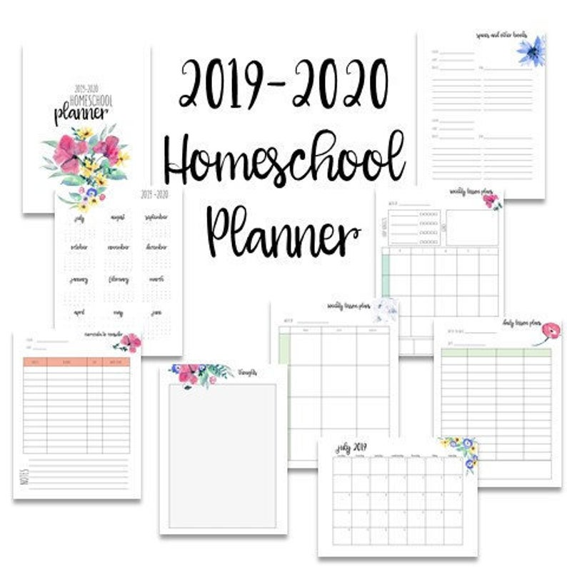 Printable Homeschool planners (9)