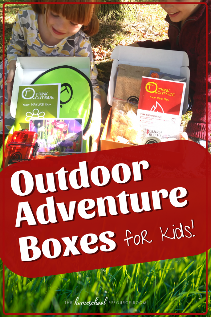 Check out these outdoor adventure boxes for kids. Initial thoughts and full review of Think Outside Boxes. A fun, new surprise box that will get your kids learning and playing outdoors. #thegreatoutdoors #education #outdoorclassroom
