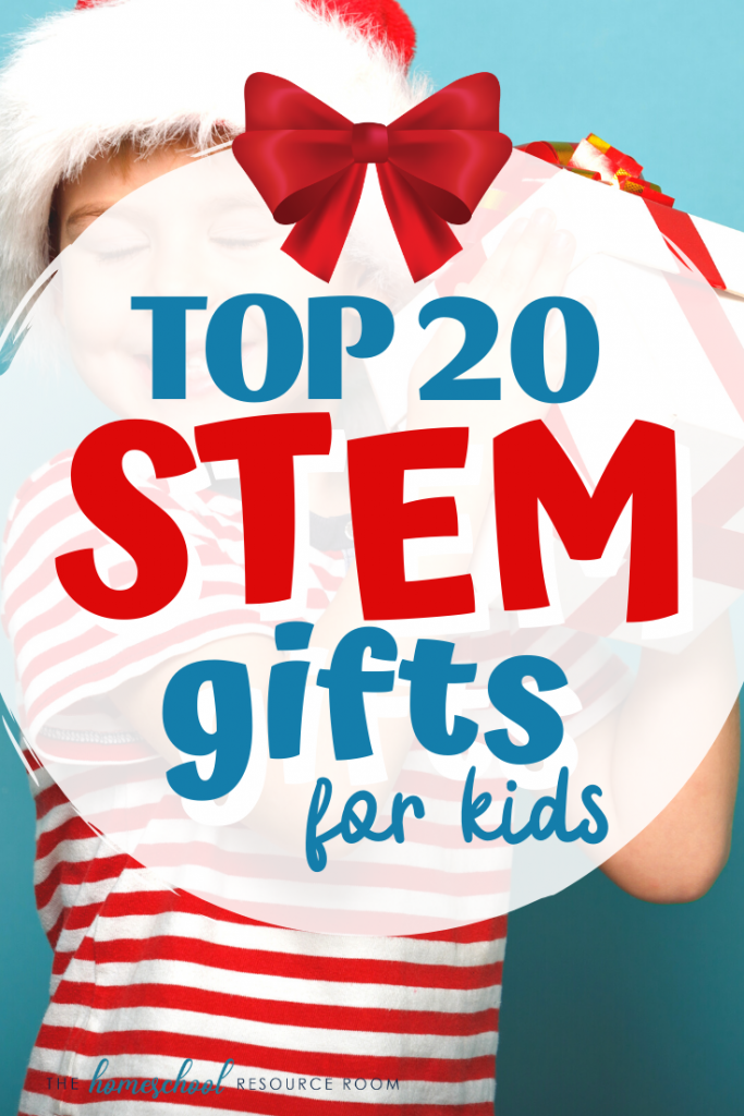 This year's top 20 STEM gifts for kids! Find FUN hands-on activities, games, and kits for your little scientist, engineer, or master coder! Great ideas for the holidays! #stem #stemeducation #giftideas #christmas