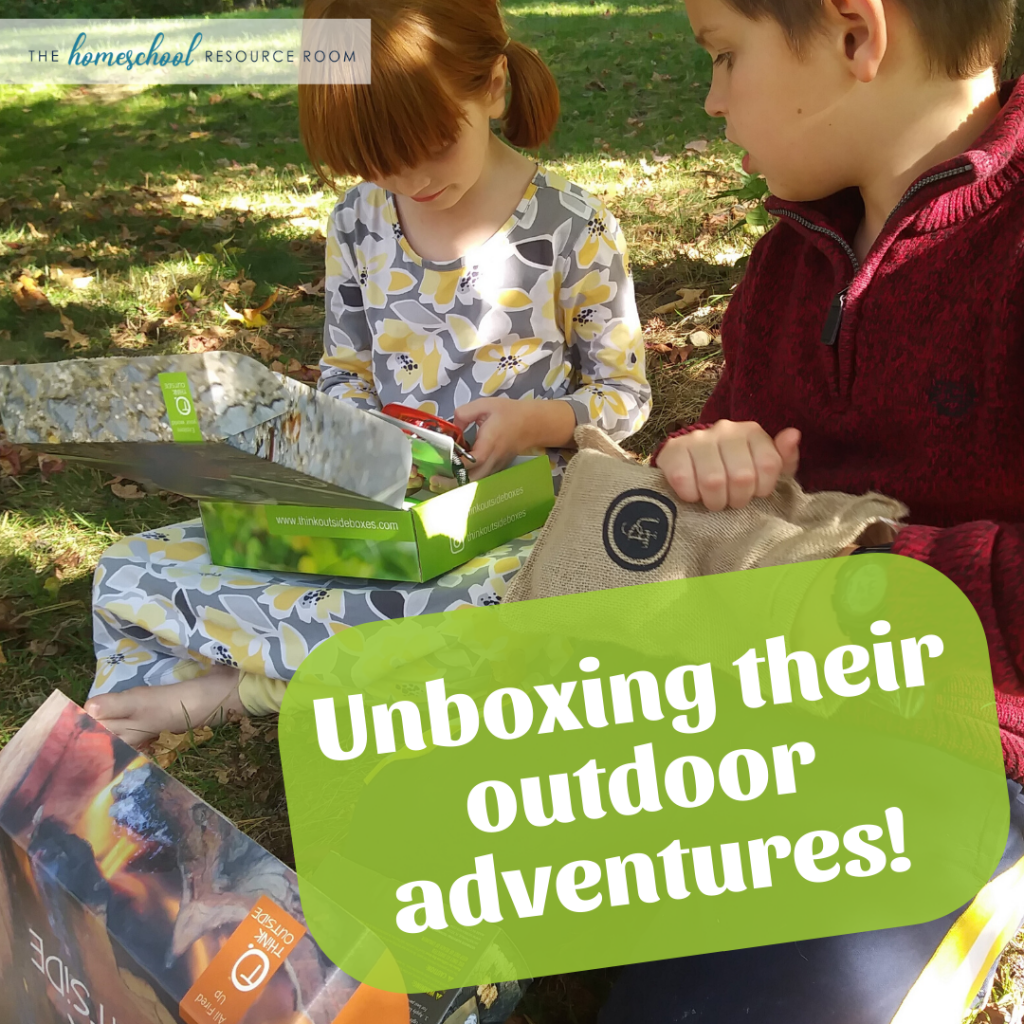 Initial thoughts on the Think Outside Boxes: there's some pretty cool stuff in here! Is this outdoor adventure box worth your while? Read the full review. #outdoorclassroom #learningoutside #surprisebox