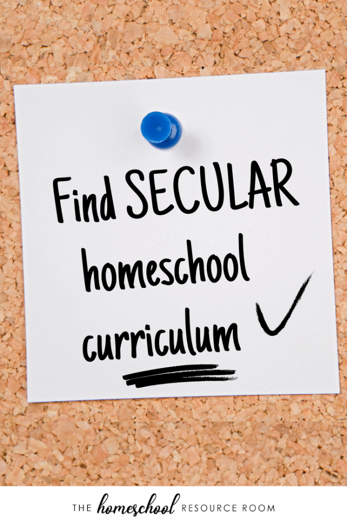 50 totally secular homeschool curriculum resources for language arts, math, science, social studies, and more! #secularhomeschool