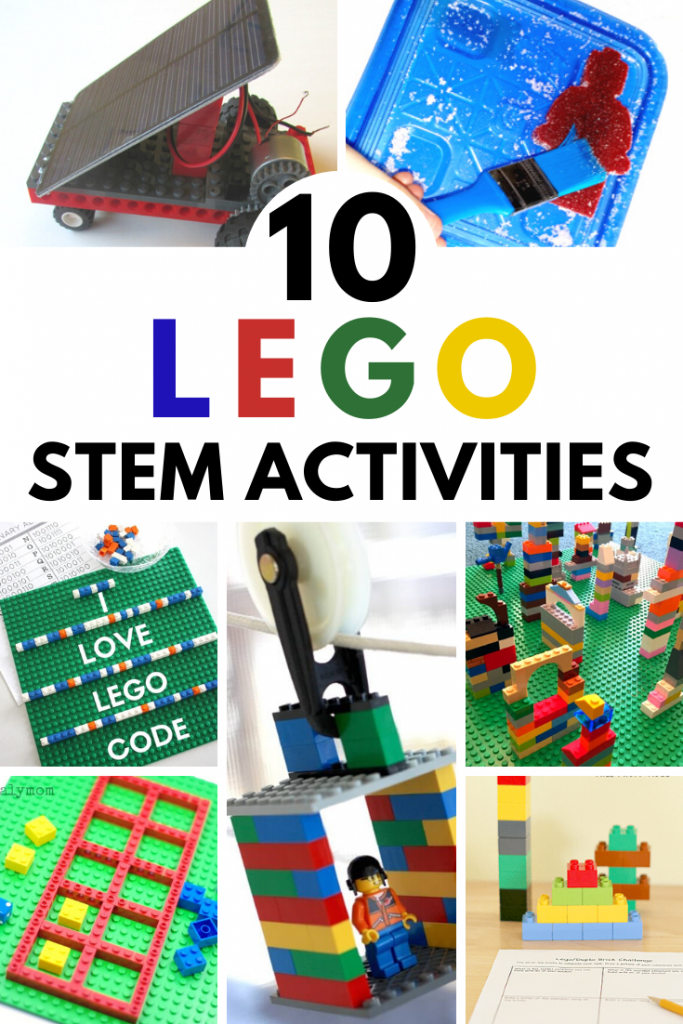 10 fantastic LEGO STEM activities for kids of all ages! Encourage hands-on learning and fine motor practice with these engaging games and challenges! #stem #stemeducation #steam #lego