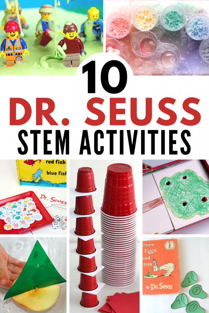 10 Dr. Seuss STEM Activities to celebrate Dr. Seuss and all of the joy he brings! Cross curricular science experiments, hands-on projects, and STEM challenges for kids! #stem #stemeducation #science #seuss #readacrossamerica