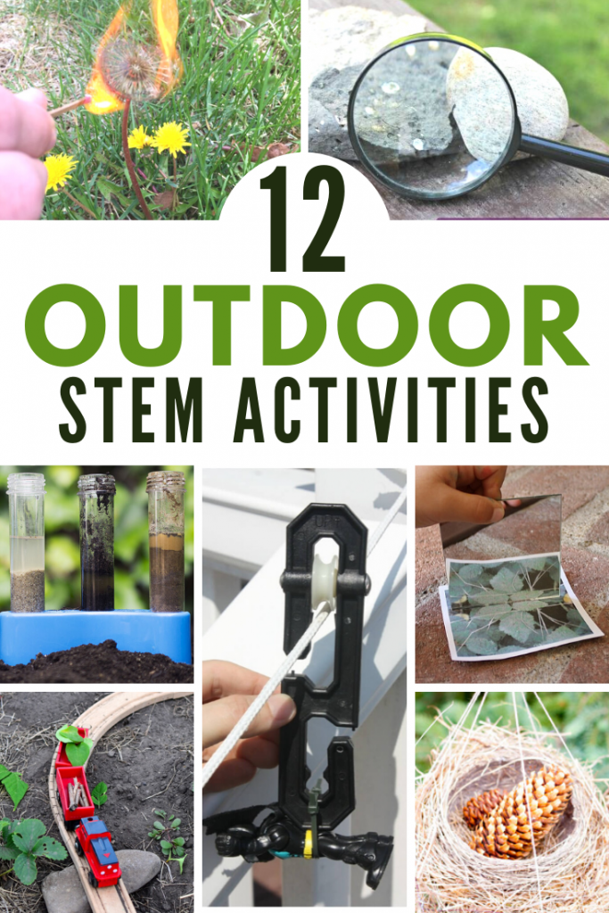 12 fantastic outdoor STEM activities for hands-on fun and learning in the summer! Screen free summer activities. #stem #summer #summerschool #stemeducation #getoutside