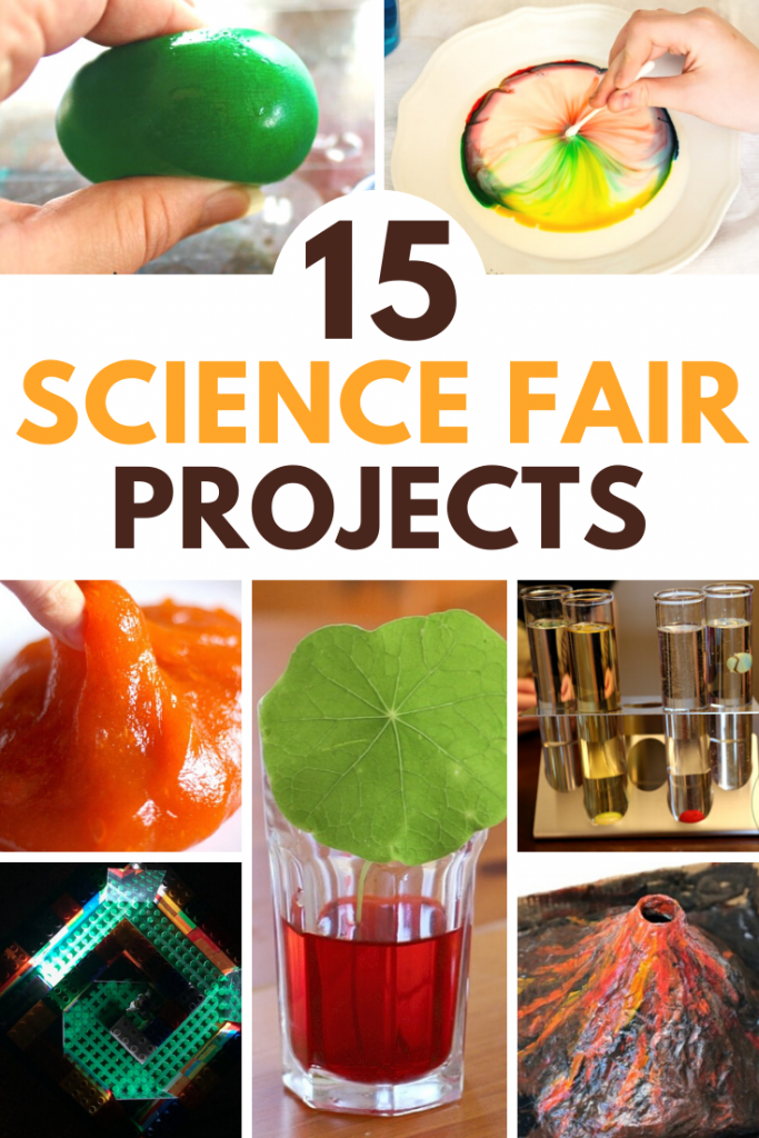 15 fun elementary science fair projects! Hands-on experiments for kids to show off their love of science! #sciencefair #stem #stemeducation #scienceexperiments