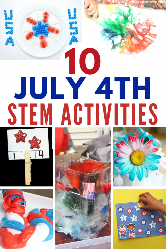 10 fun 4th of July activities for kids! Science experiments and STEM activities for hands-on fun and learning this summer! #stem #stemeducation #science #scienceexperiments #july4th #summerschool #summercamp