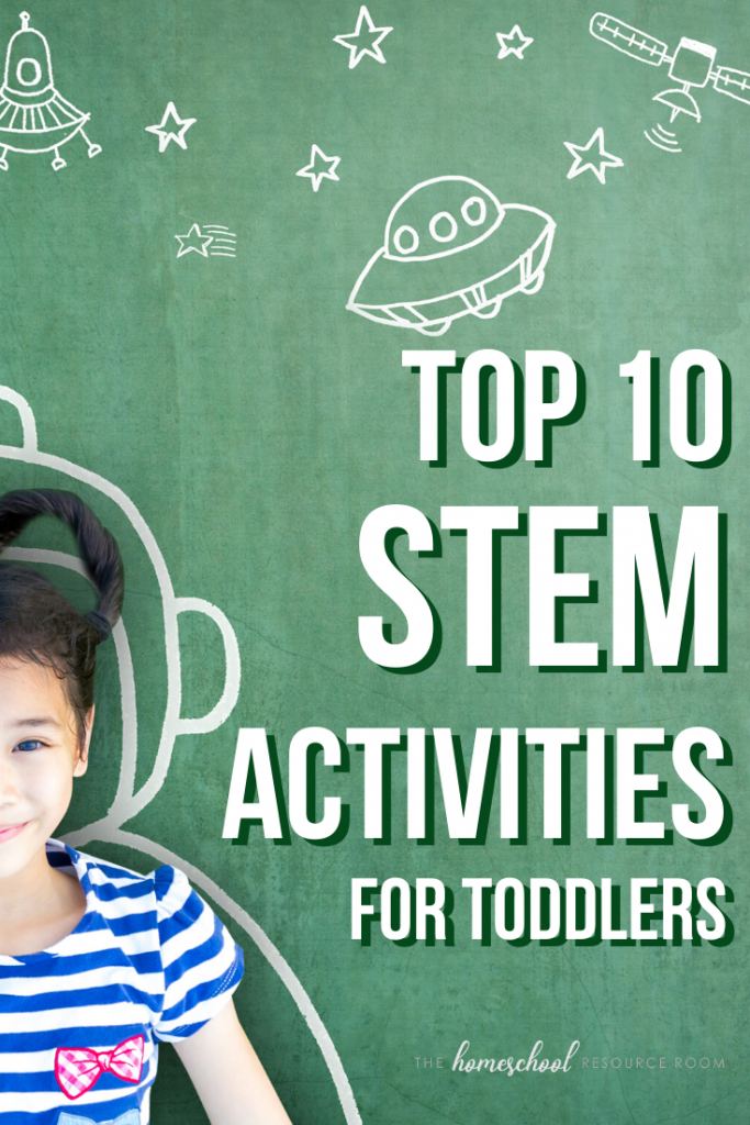 Our top 10 favorite STEM activities for toddlers! Inspire an early love of all things STEM with these hands-on experiments and projects - perfect for little ones! #toddleractivities #stem #stemeducation #learningthroughplay