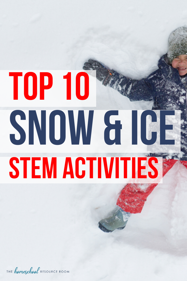 Our top 10 snow and ice STEM activities for winter! Hands-on learning inside and outdoors with 10 incredible experiments and projects! #stem #stemeducation #winteractivitiesforkids #learnoutdoors