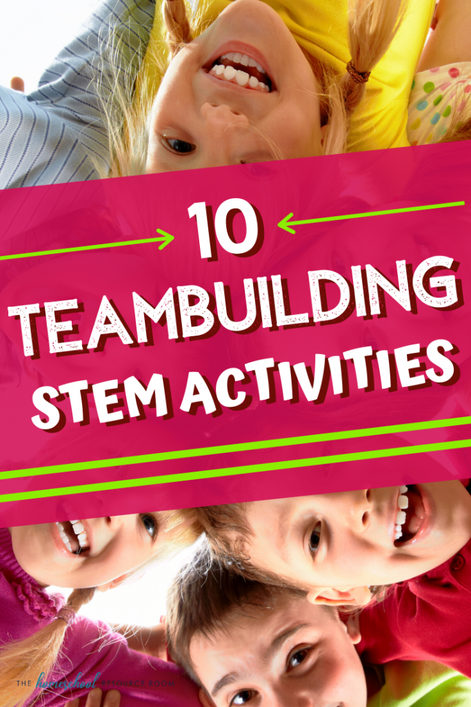 10 fantastic teambuilding STEM activities for your class, co-op, or homeschool! Work together to engineer new designs and solve problems! Hands-on learning that is fun for all! #stem #stemeducation #teambuilding #cooperativelearning