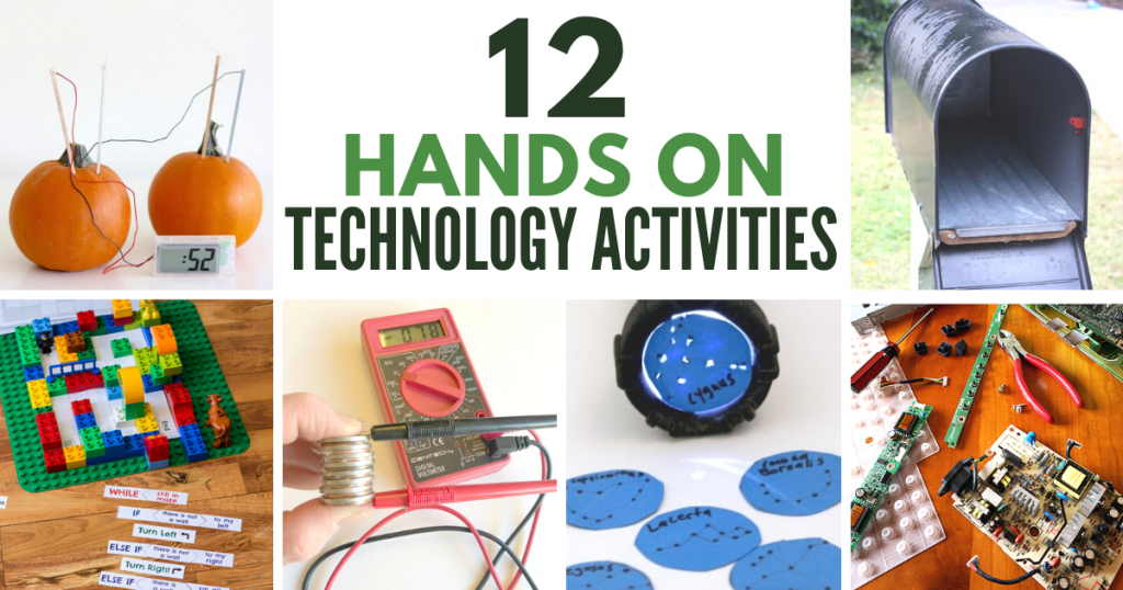 12 fun technology STEM activities for kids! Creative ideas and projects for hands-on learning. #stem #stemeducation #teched #elementary