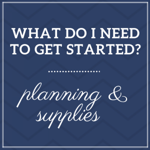 Planning and Supplies