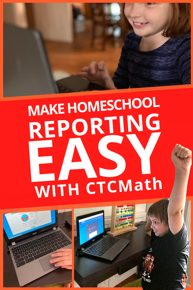 Make homeschool reporting EASY with CTCMath. Print & go reports for your portfolio & see your child's progress at-a-glance. #homeschooling #homeschoolcurriculum #secularhomeschool