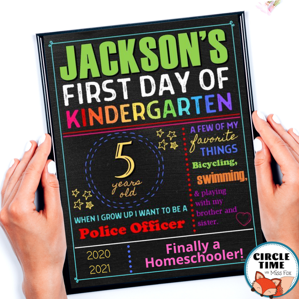 First Day of Homeschool Sign