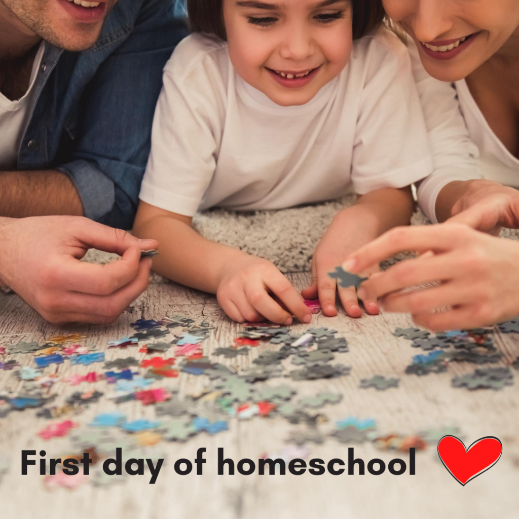 First Day of Homeschool - 5 Tips for a memorable first day!